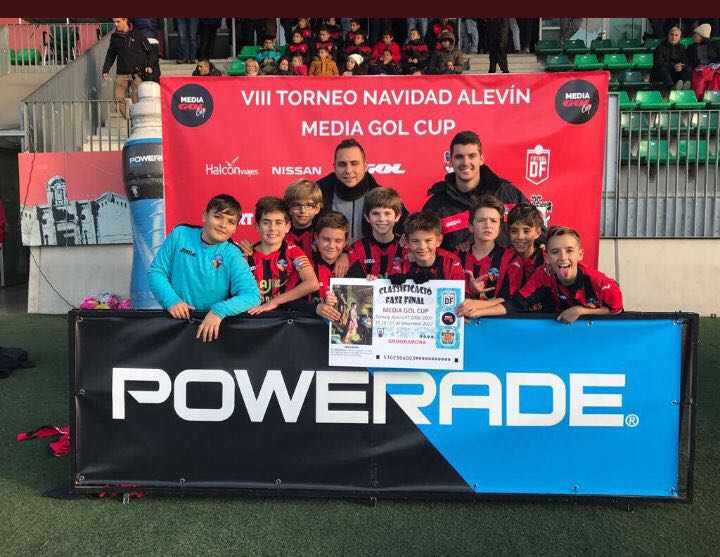 L'Aleví A, en la seva participació a la Media Alevin Cup de Nadal